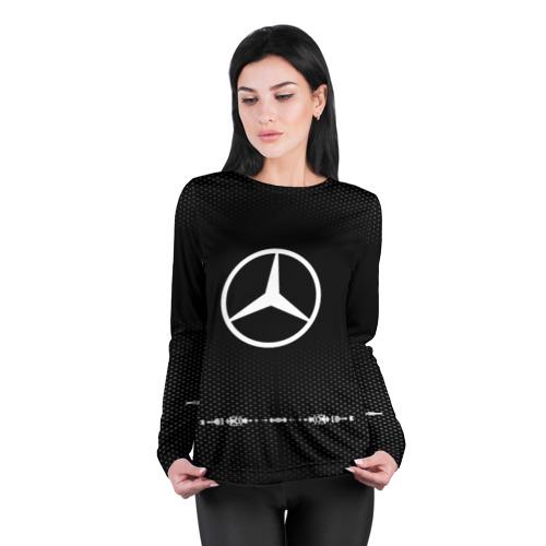 Женский лонгслив 3D для беременных  Фото 04, Mercedes sport auto abstract