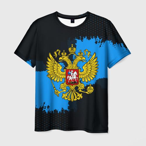 Мужская футболка 3D  Фото 03, RUSSIA blue collection 2018