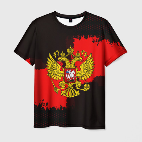 Мужская футболка 3D  Фото 03, RUSSIA red collection 2018