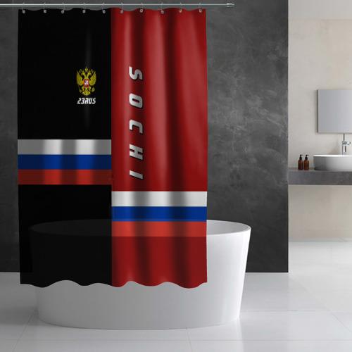 Штора 3D для ванной  Фото 03, SOCHI (Сочи)