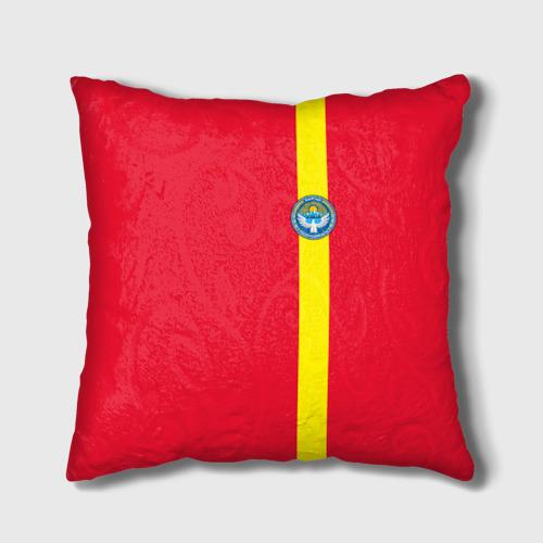 Подушка 3D  Фото 01, Киргизия, лента с гербом