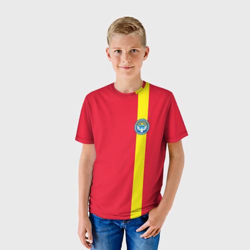 Детская футболка 3D  Фото 01, Киргизия, лента с гербом