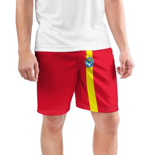 Мужские шорты 3D спортивные  Фото 03, Киргизия, лента с гербом