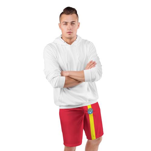 Мужские шорты 3D спортивные  Фото 05, Киргизия, лента с гербом