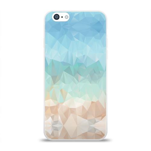 """Чехол для Apple iPhone 6 силиконовый глянцевый  Фото 01, Lowpoly \""""Пляж\"""""""
