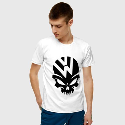 Мужская футболка хлопок Volkswagen череп Фото 01