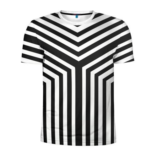 Мужская футболка 3D спортивная Кибер Зебра