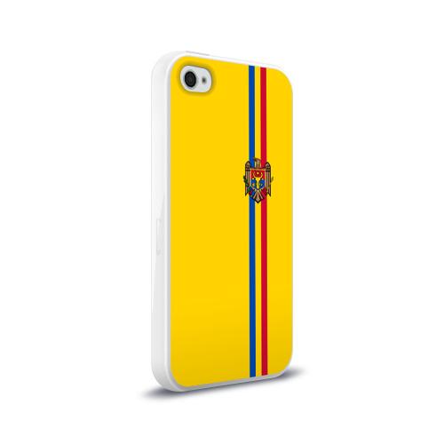 Чехол для Apple iPhone 4/4S силиконовый глянцевый  Фото 02, Молдавия, лента с гербом