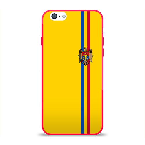 Чехол для Apple iPhone 6 силиконовый глянцевый  Фото 01, Молдавия, лента с гербом