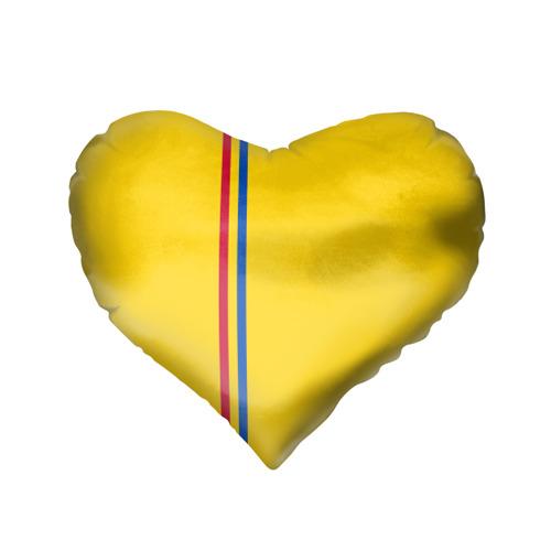 Подушка 3D сердце  Фото 02, Молдавия, лента с гербом