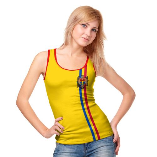 Женская майка 3D  Фото 05, Молдавия, лента с гербом