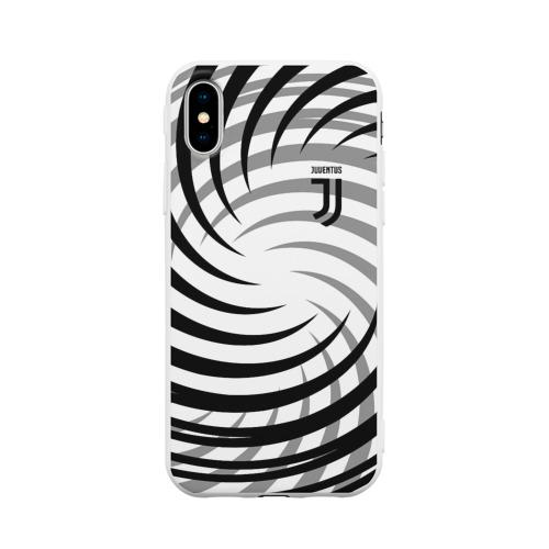Чехол для Apple iPhone X силиконовый матовый Juventus