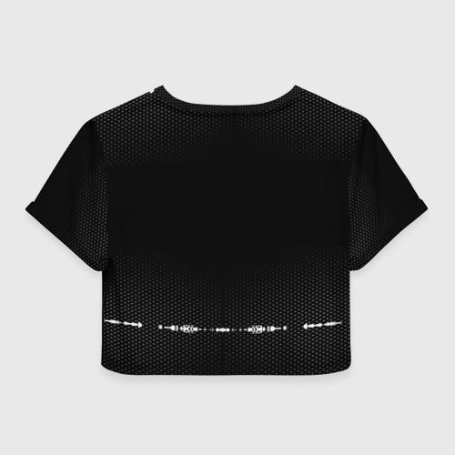 Женская футболка 3D укороченная  Фото 02, KIA sport auto abstract