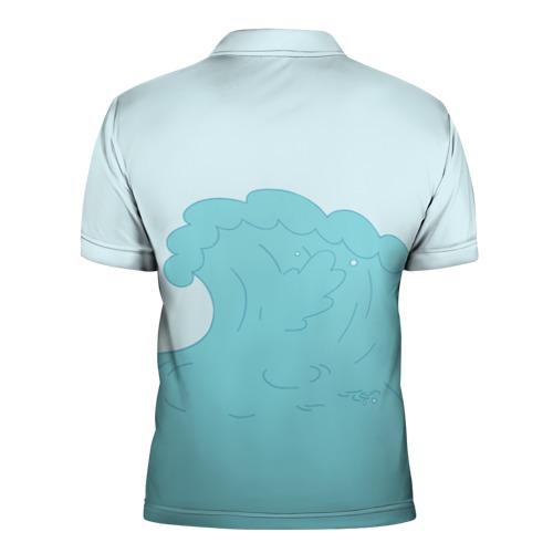 Мужская рубашка поло 3D  Фото 02, Pusheen сёрфер