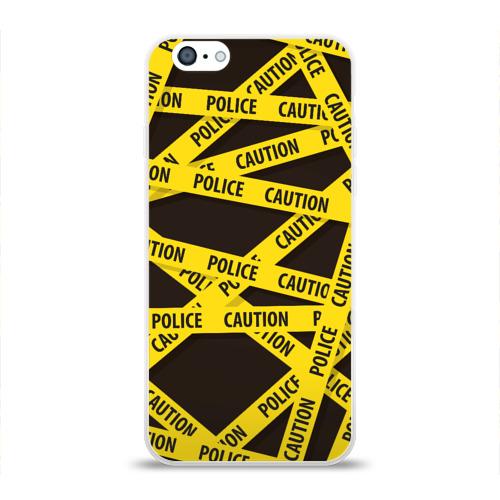 Чехол для Apple iPhone 6 силиконовый глянцевый  Фото 01, Police Caution