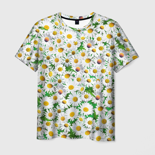 Мужская футболка 3D Ромашки