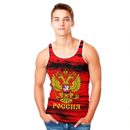 Мужская майка 3D RUSSIA