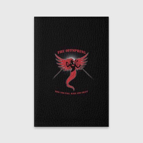 Обложка для паспорта матовая кожа The Offspring  Фото 01