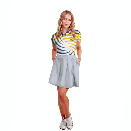 Женская рубашка поло 3D  Фото 04, Real Madrid
