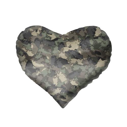 Подушка 3D сердце  Фото 02, Камуфляж с толстыми котами