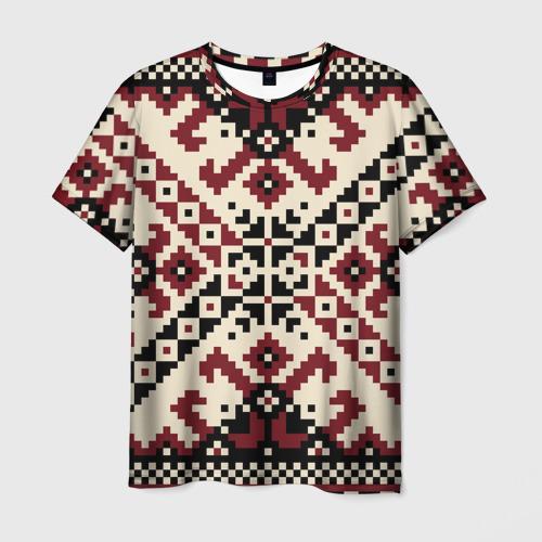 Мужская футболка 3D  Фото 03, Русская народная вышивка