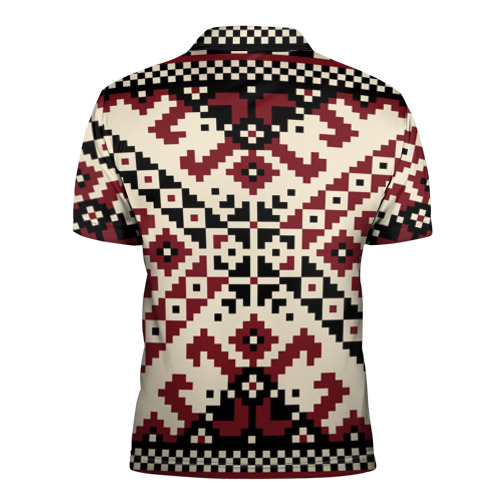 Мужская рубашка поло 3D  Фото 02, Русская народная вышивка