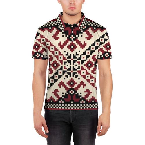 Мужская рубашка поло 3D  Фото 03, Русская народная вышивка