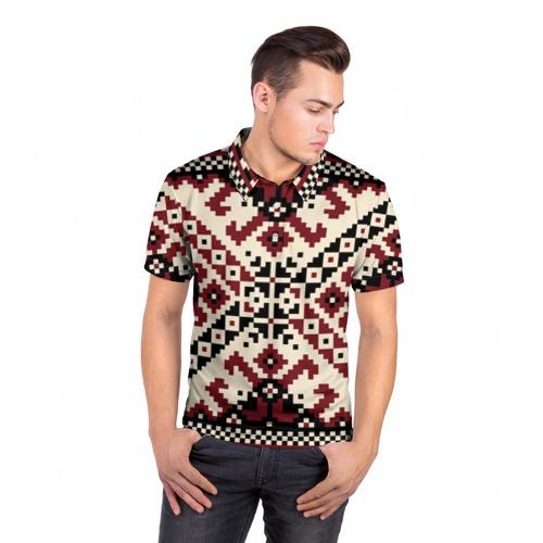Мужская рубашка поло 3D  Фото 05, Русская народная вышивка