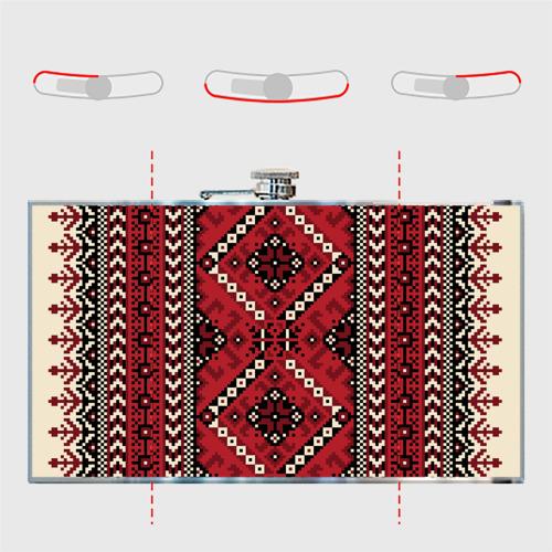 Фляга  Фото 05, Славянский орнамент красный