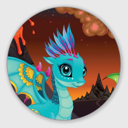 Коврик для мышки круглый  Фото 01, Синий дракон