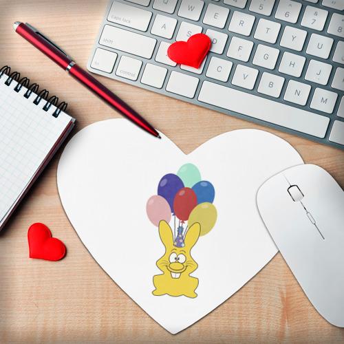 Коврик сердце  Фото 02, Зайчик с шарами