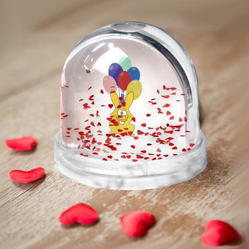 Водяной шар  Фото 03, Зайчик с шарами