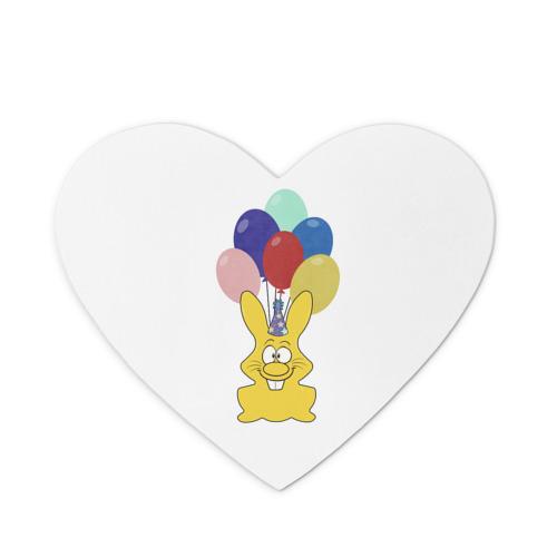Коврик сердце  Фото 01, Зайчик с шарами