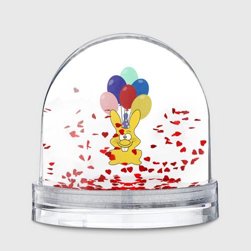 Водяной шар  Фото 01, Зайчик с шарами