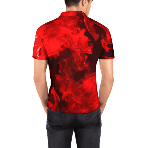 Мужская рубашка поло 3D  Фото 04, Red Snake