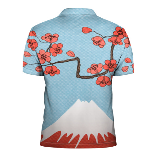 Мужская рубашка поло 3D  Фото 02, Гора Фудзияма