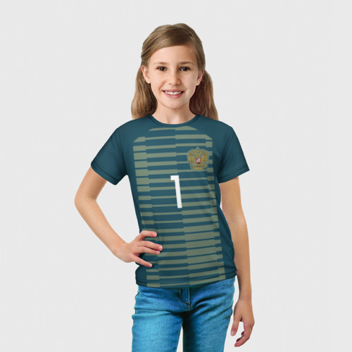 Детская футболка 3D 'Акинфеев ЧМ 2018'