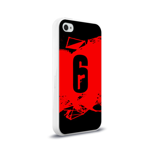 Чехол для Apple iPhone 4/4S силиконовый глянцевый RAINBOW SIX SIEGE OUTBREAK   Фото 01