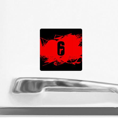 Магнит виниловый Квадрат RAINBOW SIX SIEGE OUTBREAK   Фото 01
