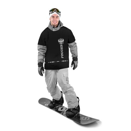 Накидка на куртку 3D  Фото 03, Russia-collection black 2018