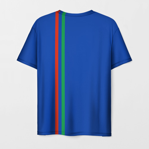 Мужская футболка 3D Дагестан, лента с гербом Фото 01