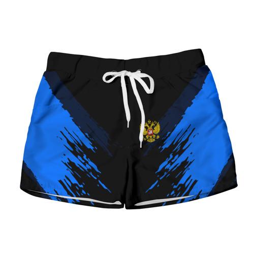 Женские шорты 3D  Фото 01, Russia-sport collection BLUE
