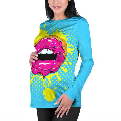 Женский лонгслив 3D для беременных  Фото 01, Donut lips