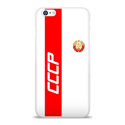 Чехол для Apple iPhone 6Plus/6SPlus силиконовый глянцевый СССР-white collection  Фото 01