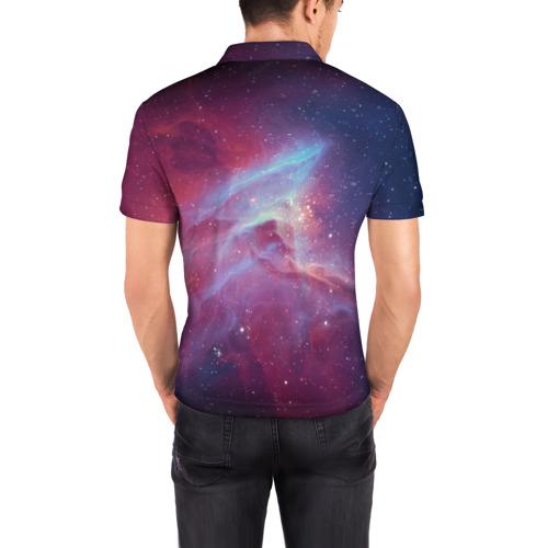 Мужская рубашка поло 3D  Фото 04, Космос