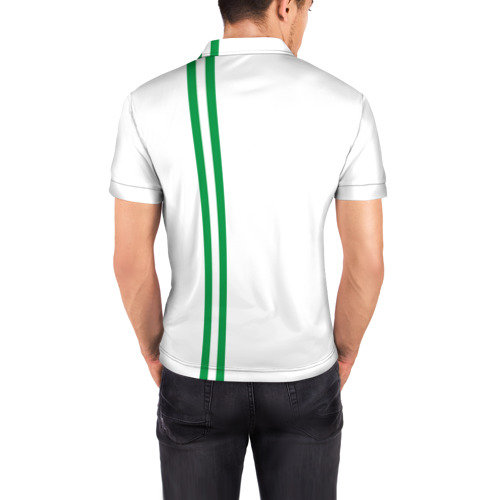 Мужская рубашка поло 3D  Фото 04, Ингушетия, лента с гербом