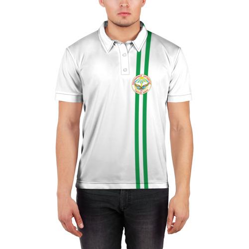 Мужская рубашка поло 3D  Фото 03, Ингушетия, лента с гербом