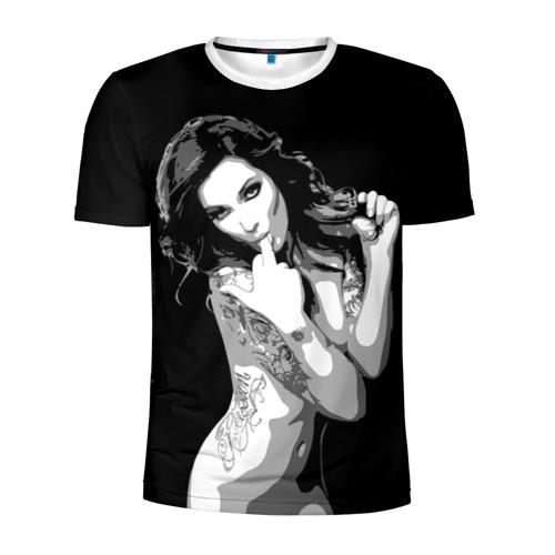 Мужская футболка 3D спортивная Trap girl