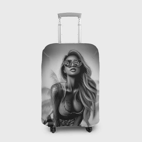 Чехол для чемодана 3D Trap girl