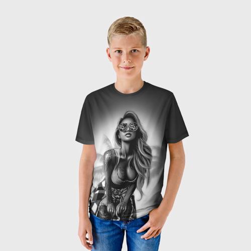 Детская футболка 3D Trap girl